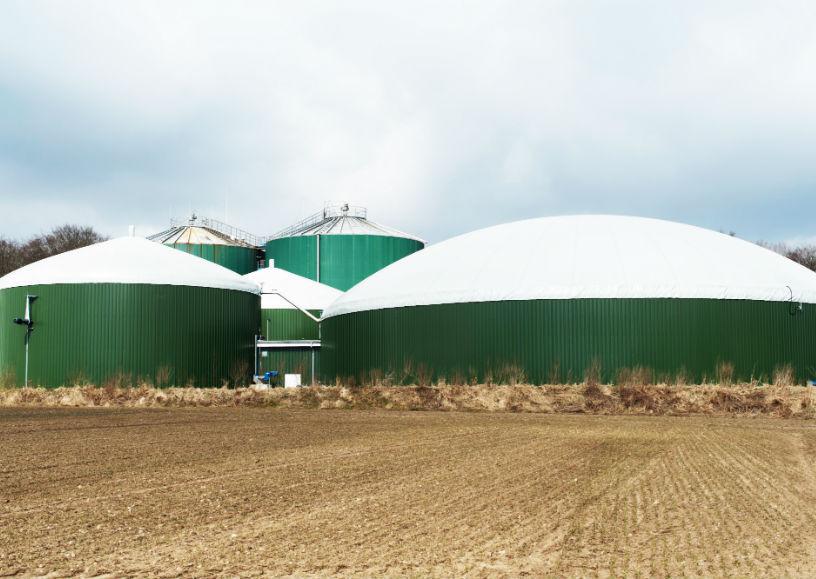 produção de biogás